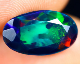 2.78cts Natural Ethiopian Welo Faceted Smoked Opal / HM2801