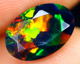 1.60cts Natural Ethiopian Welo Faceted Smoked Opal / HM2805