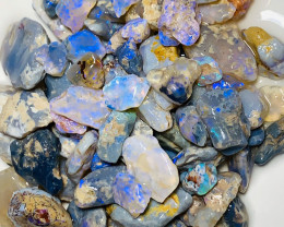 360 Cts Stunning Blue Rough Nobby Opals to Cut & Carve
