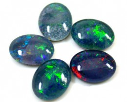 B PARCEL 5 PCS SELECTED GRADE TRIPLET OPAL 9 X 7 MM T853