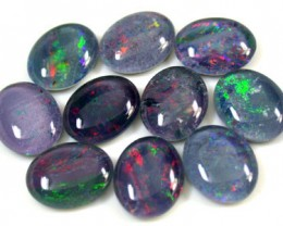 A PARCEL 10 PCS SELECTED GRADE TRIPLET OPAL 10 X 8 MM T884