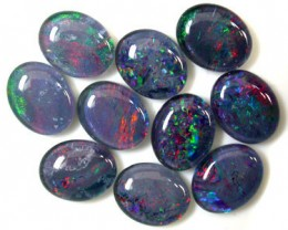 A PARCEL 10 PCS SELECTED GRADE TRIPLET OPAL 10 X 8 MM T889
