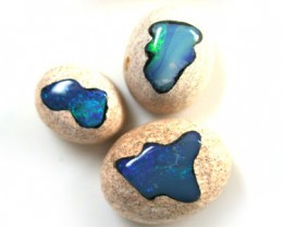 PARCEL 3 CABOCHON OPAL INLAY    15.5  CTS  R 1480