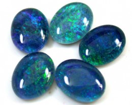 A PARCEL 5 PCS SELECTED GRADE TRIPLET OPAL 8 X 6 MM T924