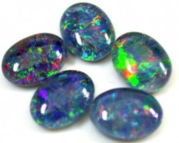 A PARCEL 5 PCS SELECTED GRADE TRIPLET OPAL 8 X 6 MM T925