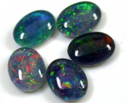 A PARCEL 5 PCS SELECTED GRADE TRIPLET OPAL 8 X 6 MM T933