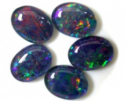 A PARCEL 5 PCS SELECTED GRADE TRIPLET OPAL 8 X 6 MM T943