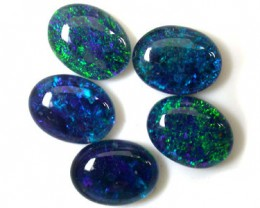 A PARCEL 5 PCS SELECTED GRADE TRIPLET OPAL 8 X 6 MM T946