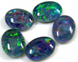 B+ PARCEL 5 PCS SELECTED GRADE TRIPLET OPAL 9 X 7 MM T965