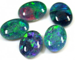 B+ PARCEL 5 PCS SELECTED GRADE TRIPLET OPAL 9 X 7 MM T977
