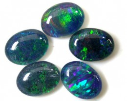 B+ PARCEL 5 PCS SELECTED GRADE TRIPLET OPAL 9 X 7 MM T990