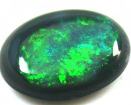 BRIGHT OLIVE GREEN  BLACK OPAL .45   CARATS   QO 2230