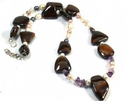 OPAL AND GEMSTONE BEAD NECKLACE 670 CTS EM 564