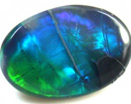 BLACK  OPAL GREEN ROLLING FLASH .50  CARATS   QO 2289