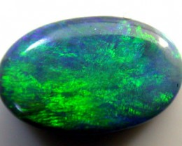 NR GOOD BLACK OPAL GREEN TONES .65 CARATS QO 2323