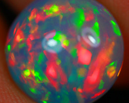 $300 3.00CT 11X11MM Broad Patchwork Pattern!! Rare Natural Ethiopian Opal-M
