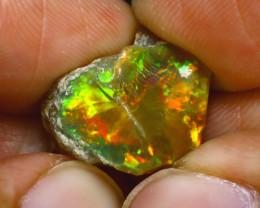 8.80Ct Multi Color Play Ethiopian Welo Opal Rough J1108/R2