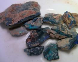 Virgin material!! 215cts big size Lightning Ridge  opal rough parcel