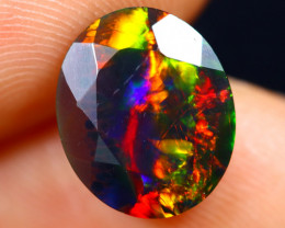 2.03cts Natural Ethiopian Faceted Smoked Welo Opal / BF7863