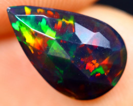 Rose Cut 1.11cts Natural Ethiopian Smoked Welo Opal / BF7866