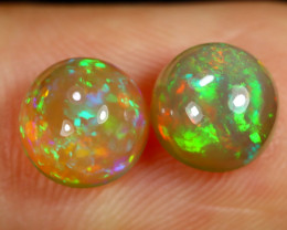 1.97cts Natural Ethiopian Welo Opal Earing Pairs / BF7871