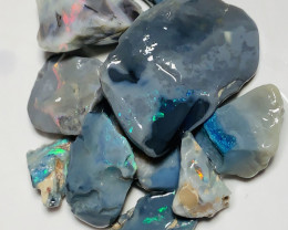 Black Opal- 100 CTs Rough Black Seams To Cut; see video plz #1978