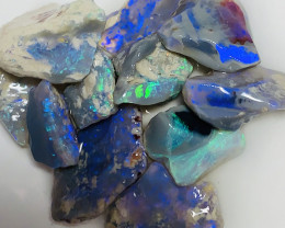 45 CTs Bright Colourful Rough Nobby Opals With Potential#1980