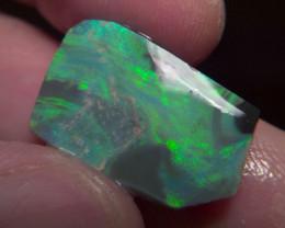 11.10ct Solid Lightning Ridge Black opal rub, No Reserve