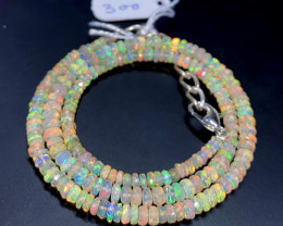 40 Crts Natural Welo Faceted Opal Beads Necklace 300