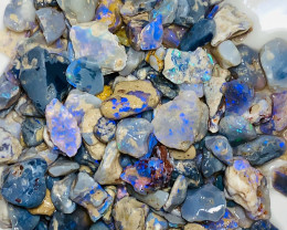 Dark Rough Nobby Opals with Lots of Blue to Go Thru & Keep Busy