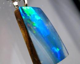 Australian Opal Doublet Pendant  Sterling Silver Gift 3.8ct RRP$480!