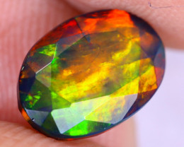 2.04cts Natural Ethiopian Welo Faceted Smoked Opal / NY2917