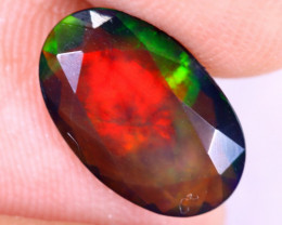 1.29cts Natural Ethiopian Welo Faceted Smoked Opal / NY2919