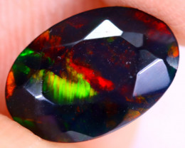 1.24cts Natural Ethiopian Welo Faceted Smoked Opal / NY2925