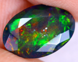 1.56cts Natural Ethiopian Welo Faceted Smoked Opal / NY2931