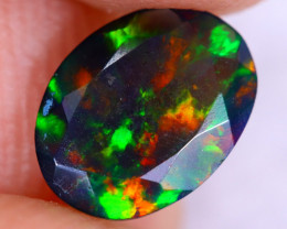 0.76cts Natural Ethiopian Welo Faceted Smoked Opal / NY2933
