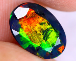 1.13cts Natural Ethiopian Welo Faceted Smoked Opal / NY2940