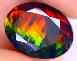 1.35cts Natural Ethiopian Welo Faceted Smoked Opal / NY2941
