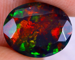 1.67cts Natural Ethiopian Welo Faceted Smoked Opal / NY2943