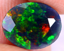 0.82cts Natural Ethiopian Welo Faceted Smoked Opal / NY2944