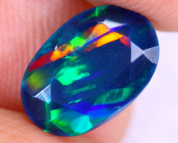 1.22cts Natural Ethiopian Welo Faceted Smoked Opal / NY2945
