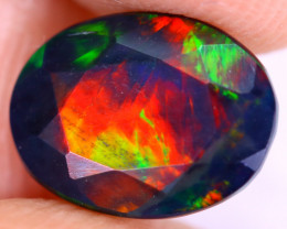 1.55cts Natural Ethiopian Welo Faceted Smoked Opal / NY2948