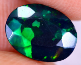 1.04cts Natural Ethiopian Welo Faceted Smoked Opal / NY2952