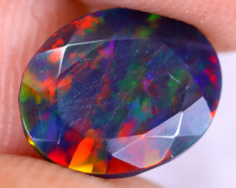 1.79cts Natural Ethiopian Welo Faceted Smoked Opal / NY2951