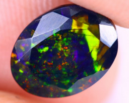 1.21cts Natural Ethiopian Welo Faceted Smoked Opal / NY2954