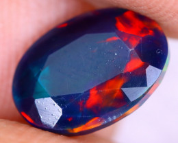 1.16cts Natural Ethiopian Welo Faceted Smoked Opal / NY2956