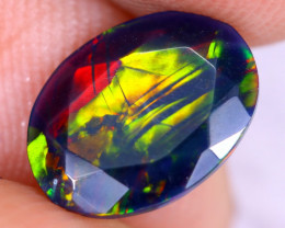 0.80cts Natural Ethiopian Welo Faceted Smoked Opal / NY2961