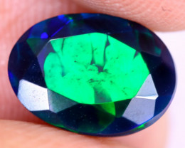 1.38cts Natural Ethiopian Welo Faceted Smoked Opal / NY2964