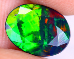 0.98cts Natural Ethiopian Welo Faceted Smoked Opal / NY2969