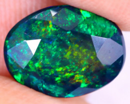 1.59cts Natural Ethiopian Welo Faceted Smoked Opal / NY2972